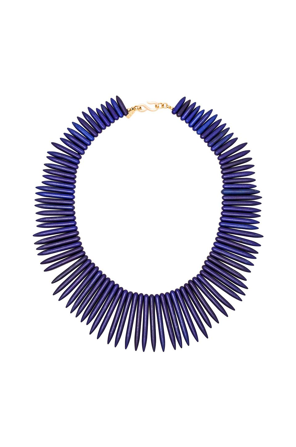 Kenneth Jay Lane Spikes Necklace in Lapis