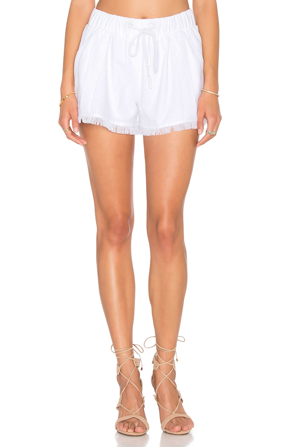 KENDALL + KYLIE Fray Hem Short in Bright White