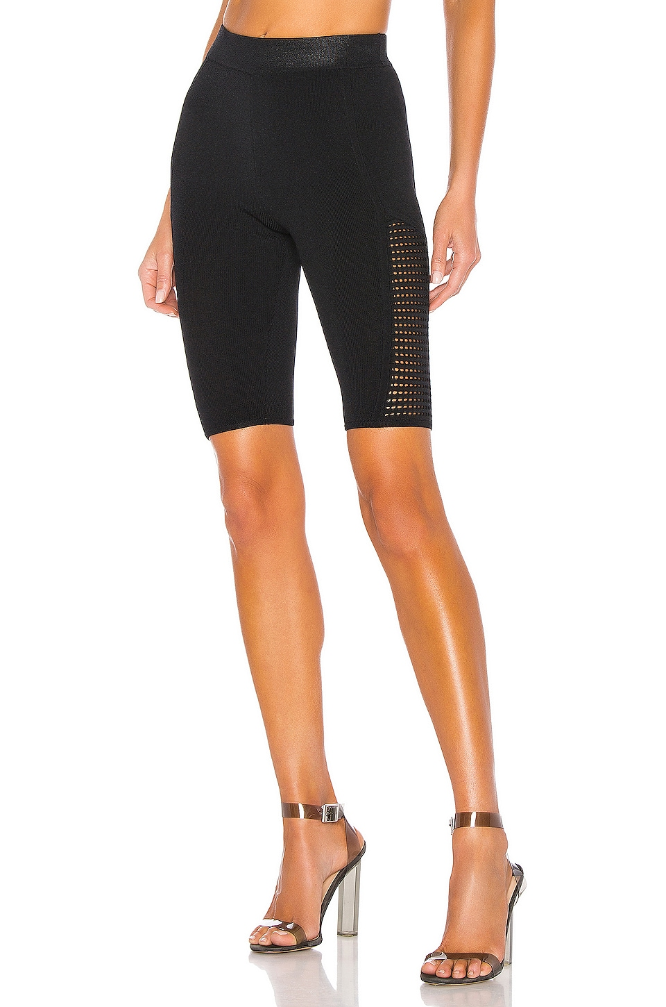 KENDALL + KYLIE X REVOLVE Mesh Stitch Bike Short in Black