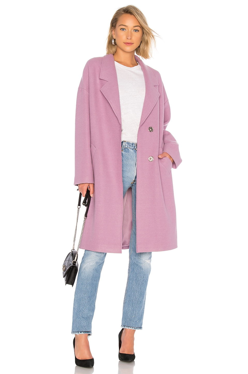KENDALL + KYLIE Wool Overcoat in Lilac