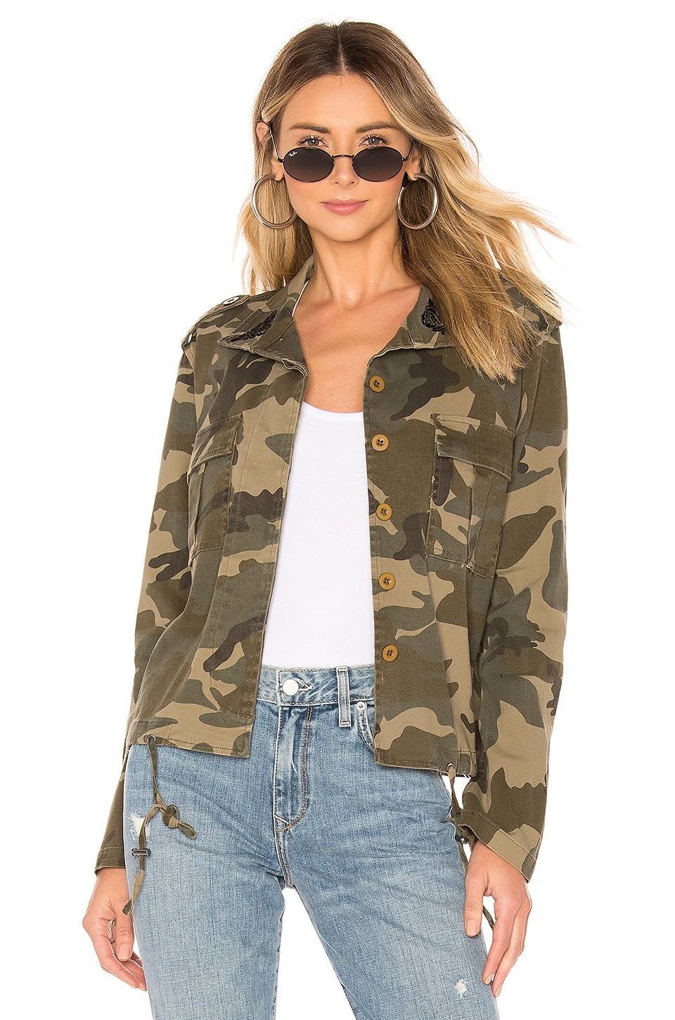 KENDALL + KYLIE Embroidery Camo Jacket in Camo