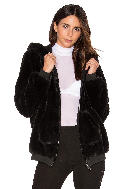 Fur Zip Up Faux Fur Hoodie by KENDALL + KYLIE