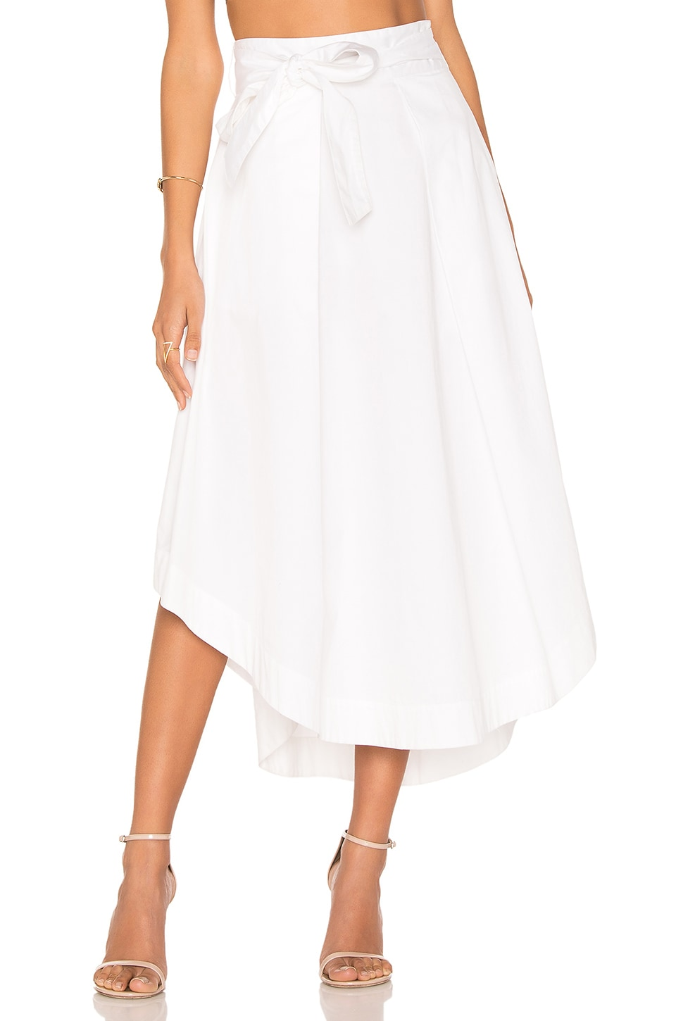 KENDALL + KYLIE Swing Skirt in Bright White