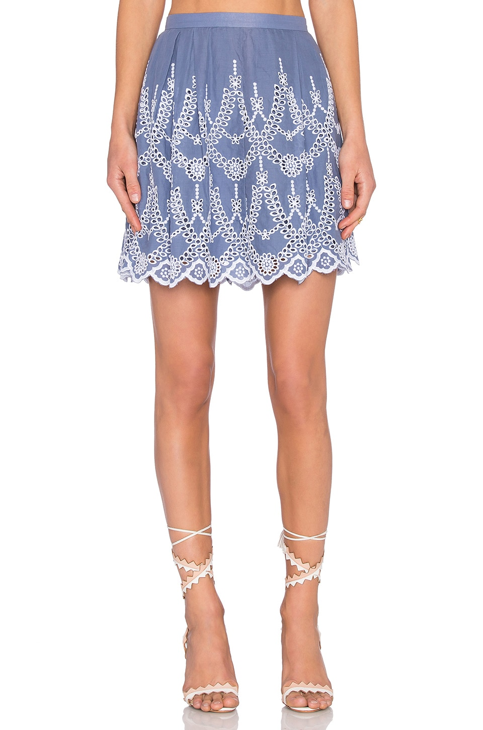 KENDALL + KYLIE Eyelet Circle Skirt in Tempest