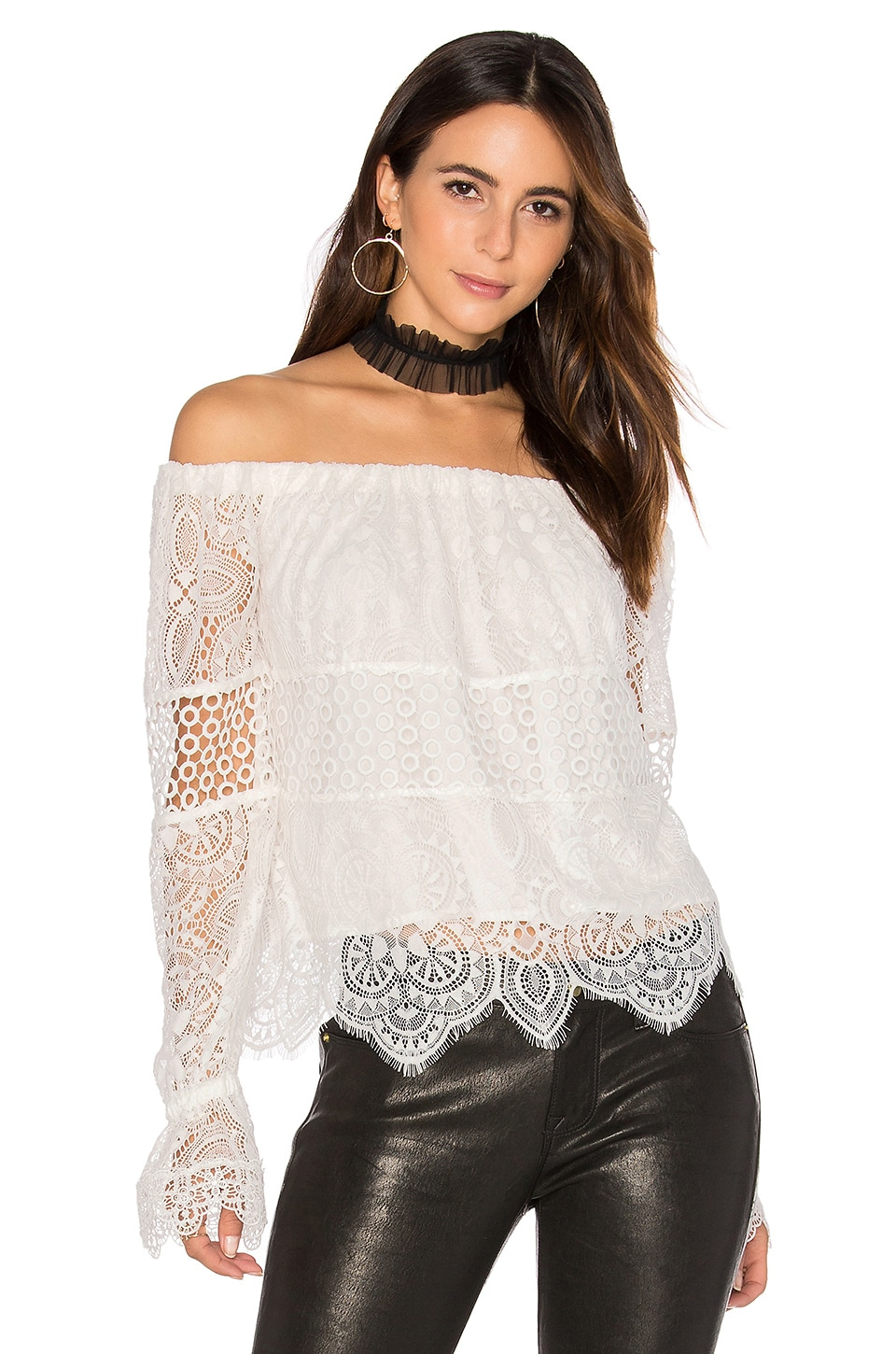 Off Shoulder Lace Top by Kendall + Kylie
