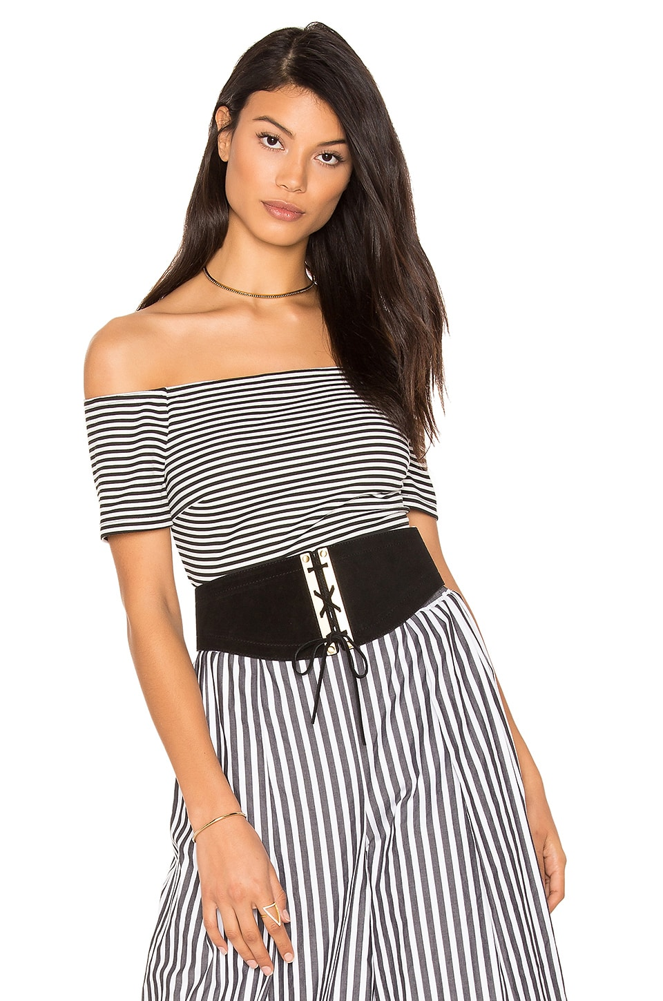 Striped Bodysuit by KENDALL + KYLIE