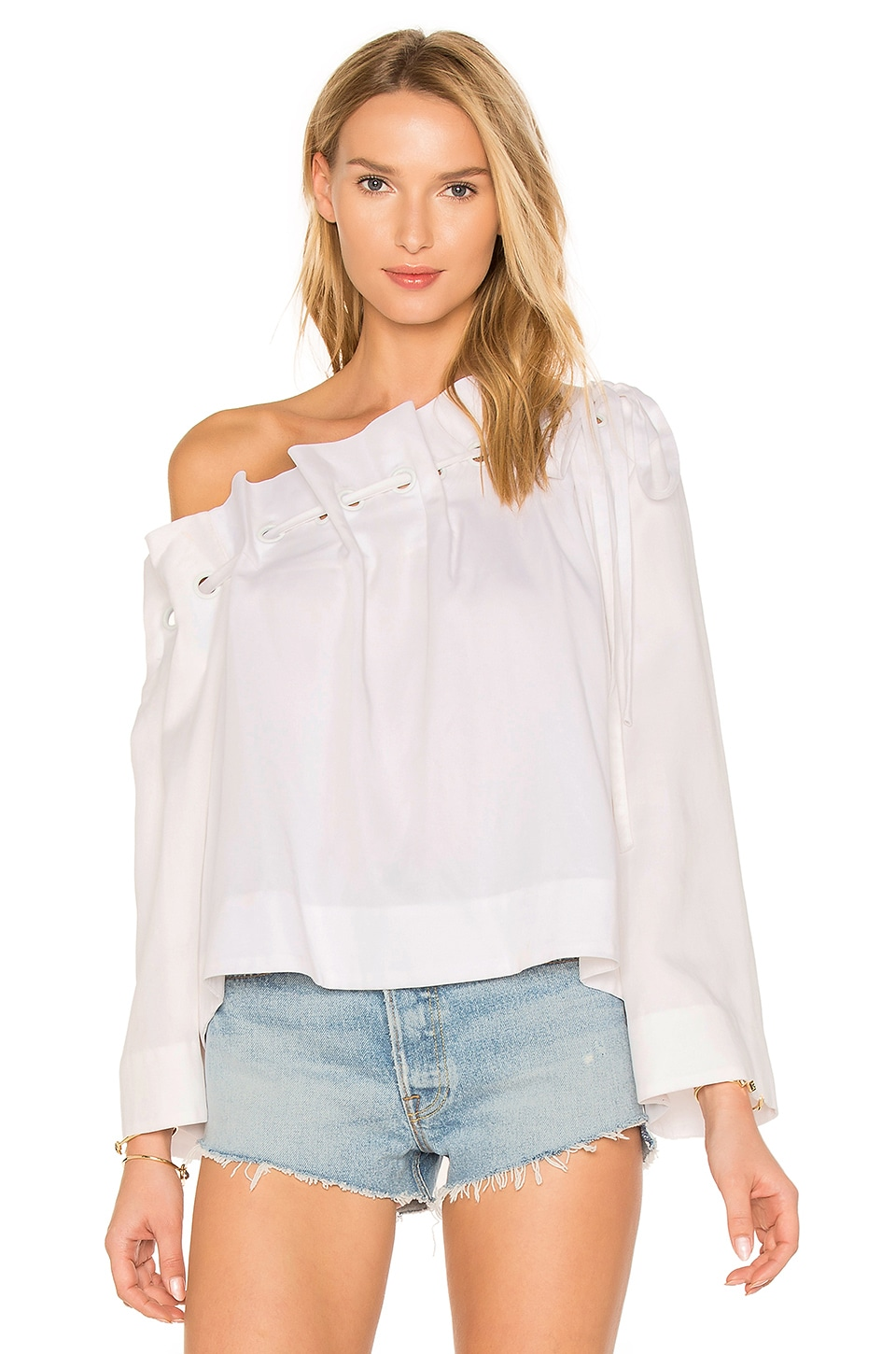 Off Shoulder Grommet Top by Kendall + Kylie