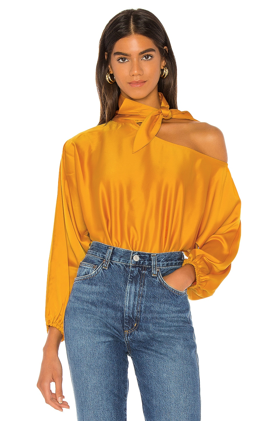 KENDALL + KYLIE Farrah Blouse in Marigold