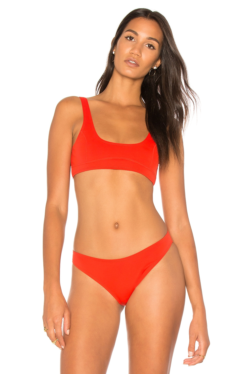 KENDALL + KYLIE X REVOLVE 90s Low Scoop Bralette in Tomato