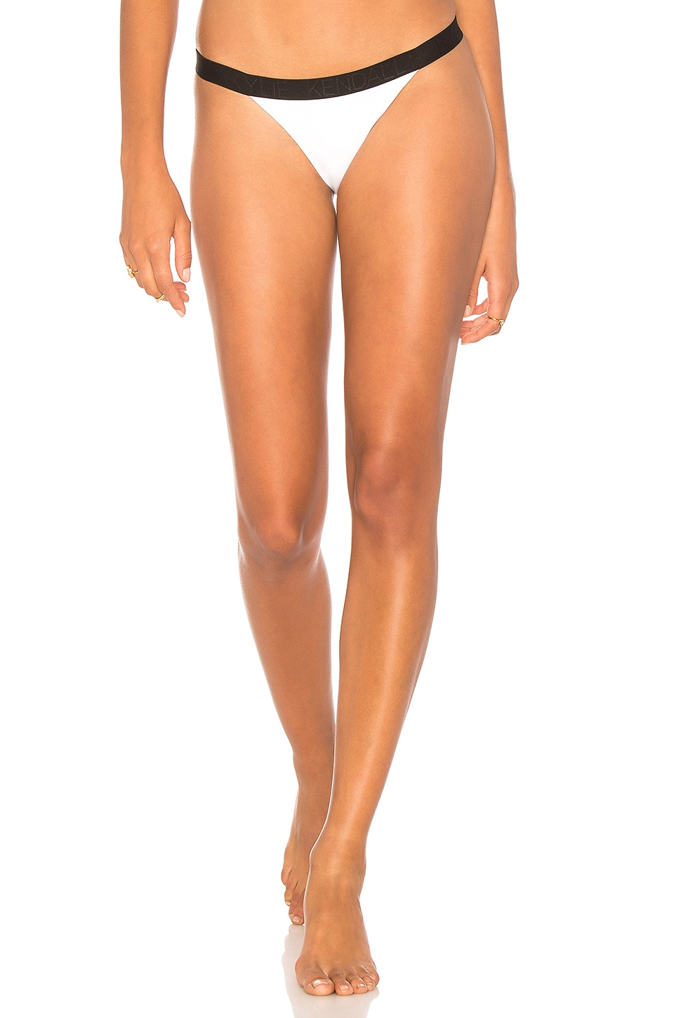 KENDALL + KYLIE X REVOLVE Colorblock Cheeky Bottom in Optic White
