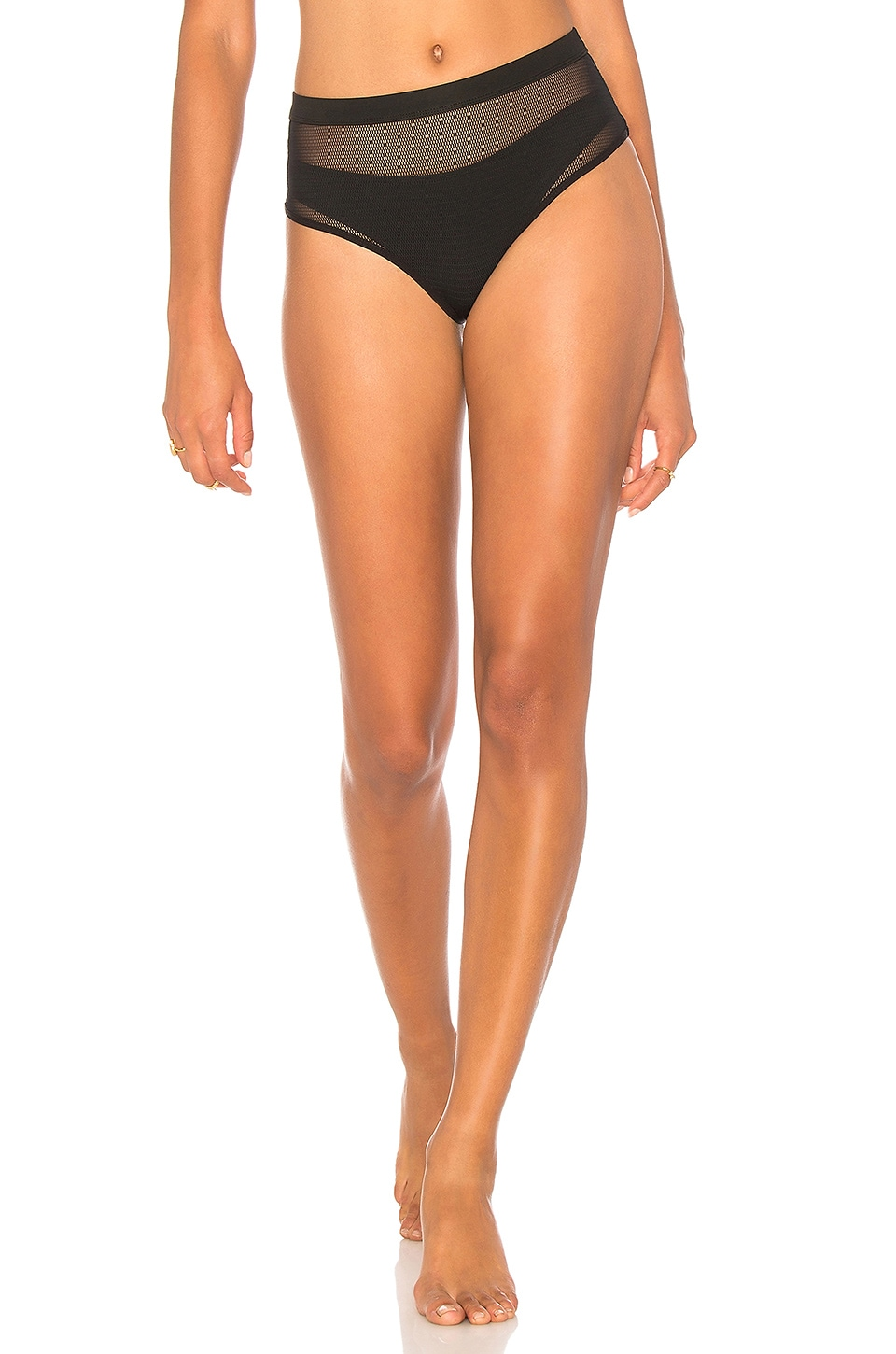 KENDALL + KYLIE X REVOLVE Mesh High Waisted Bottom in Black