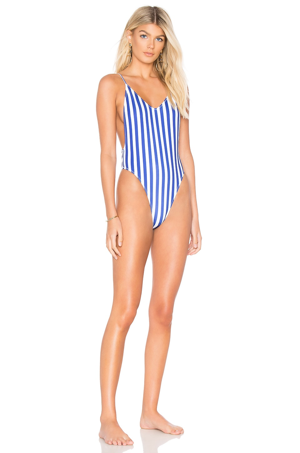 KENDALL + KYLIE x REVOLVE Classic One Piece in Royal Stripe