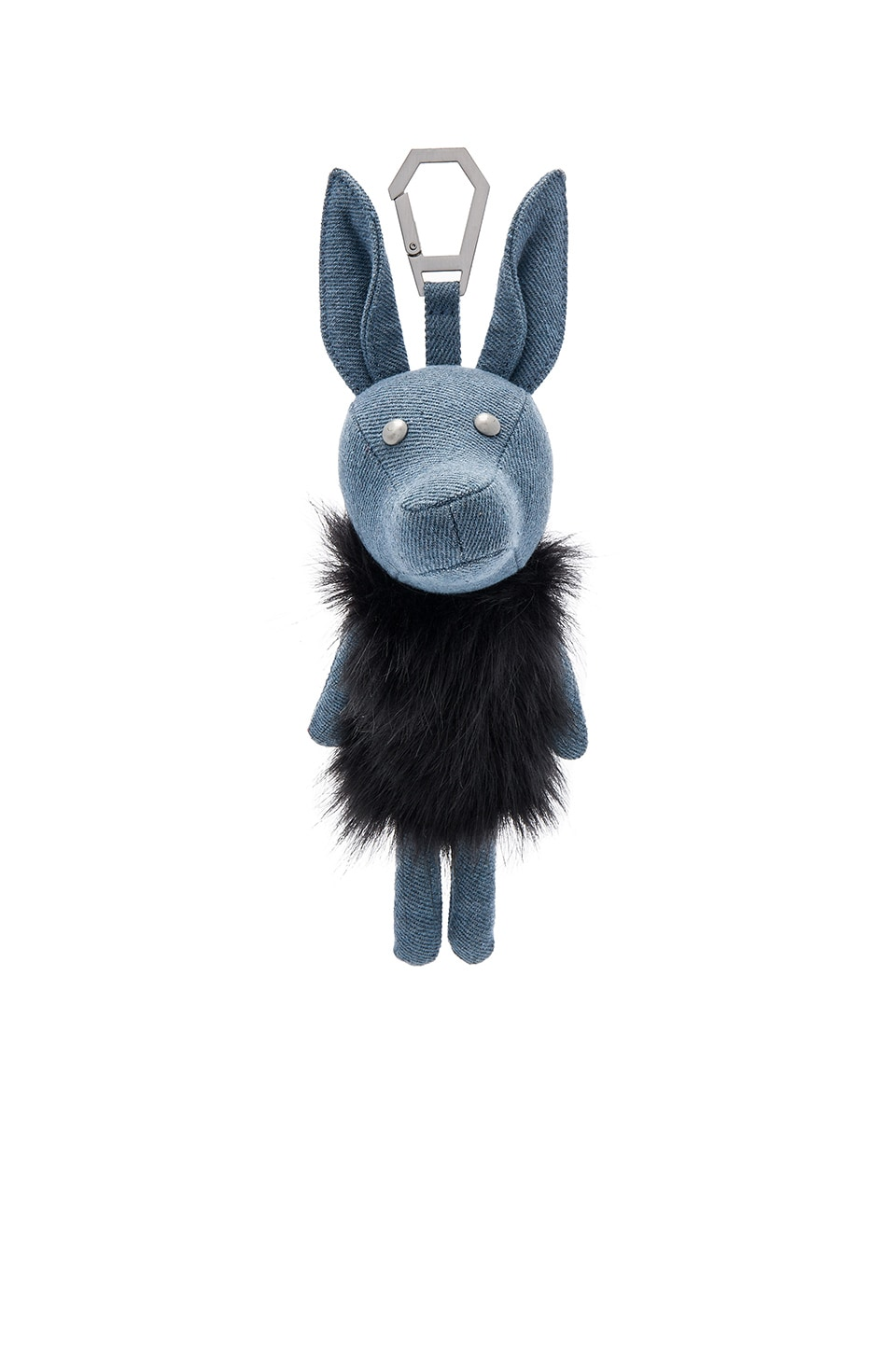 KENDALL + KYLIE Norman Denim Dog Charm in Placid Blue Denim