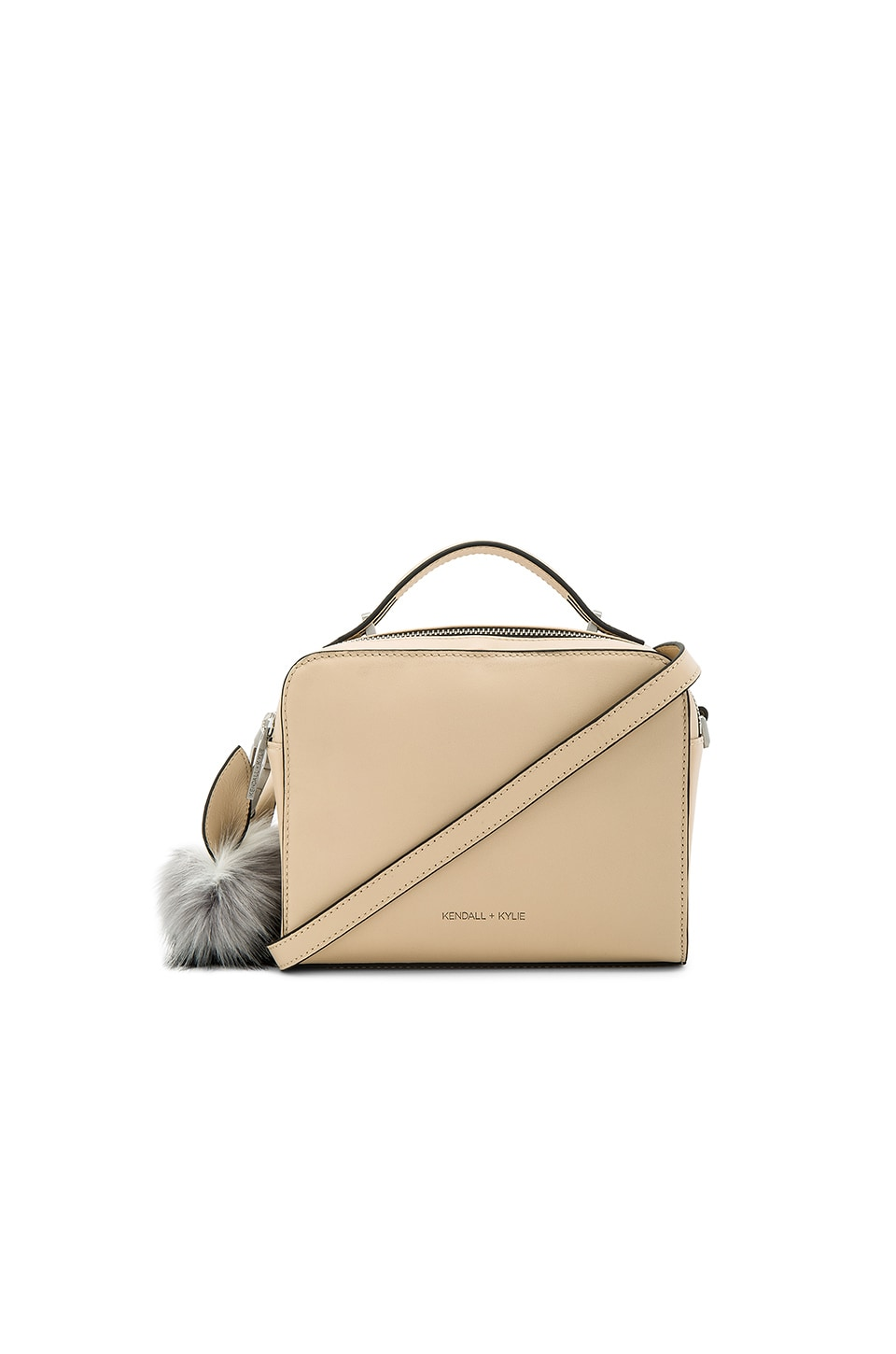 KENDALL + KYLIE Lucy Crossbody in Cream Tan