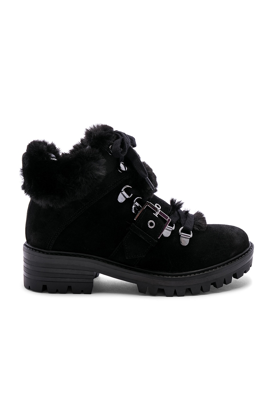 KENDALL + KYLIE Edison Faux Fur Bootie in Black