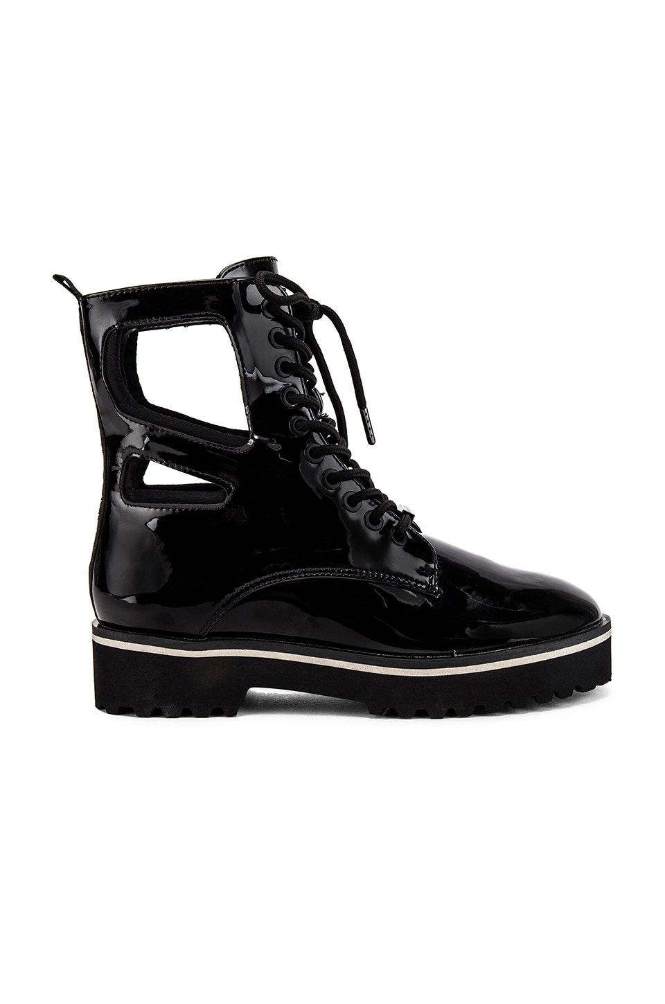 KENDALL + KYLIE Langmore Boot in Black Patent