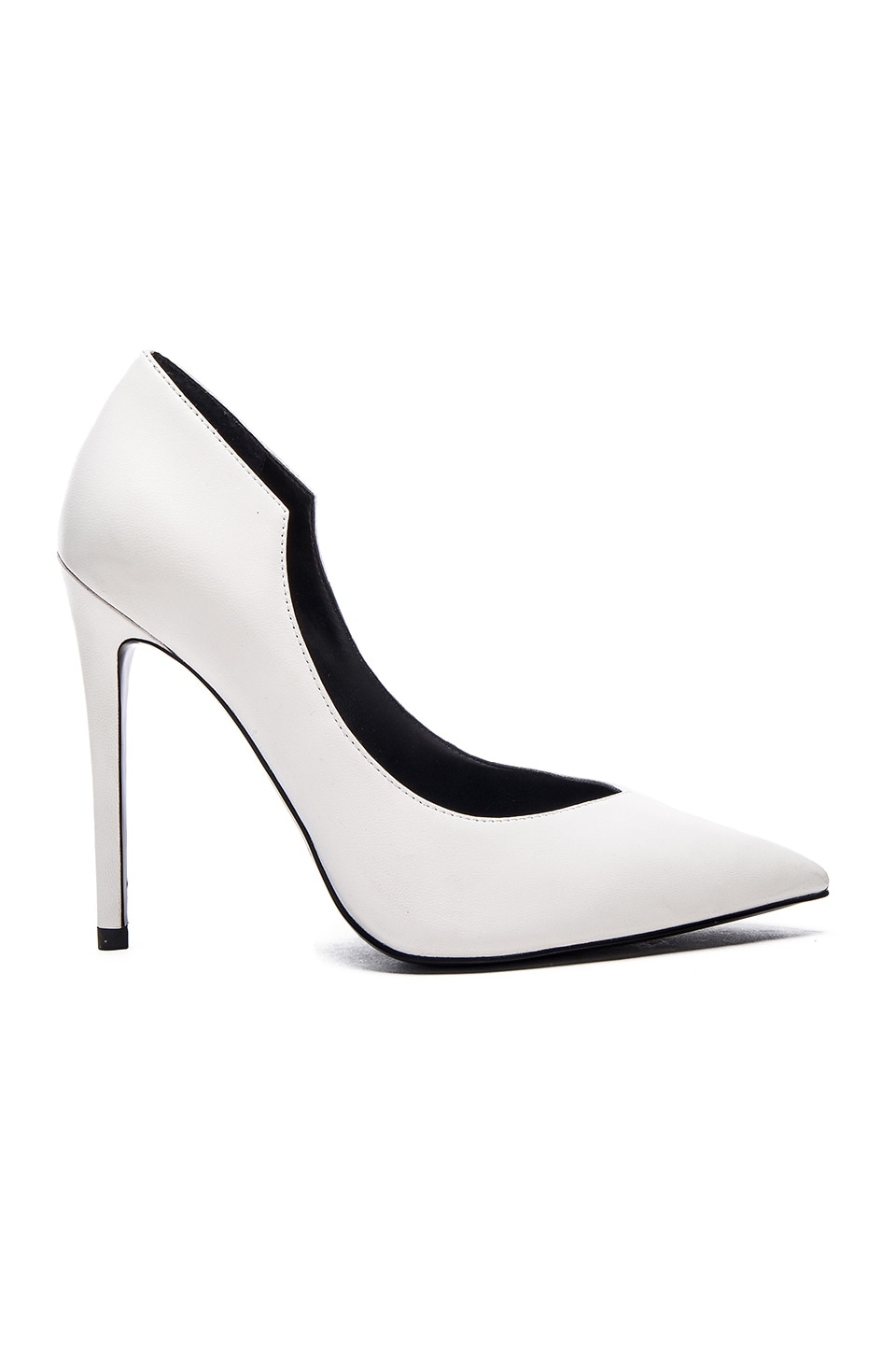 KENDALL   KYLIE Abi Heel in White Leather | REVOLVE
