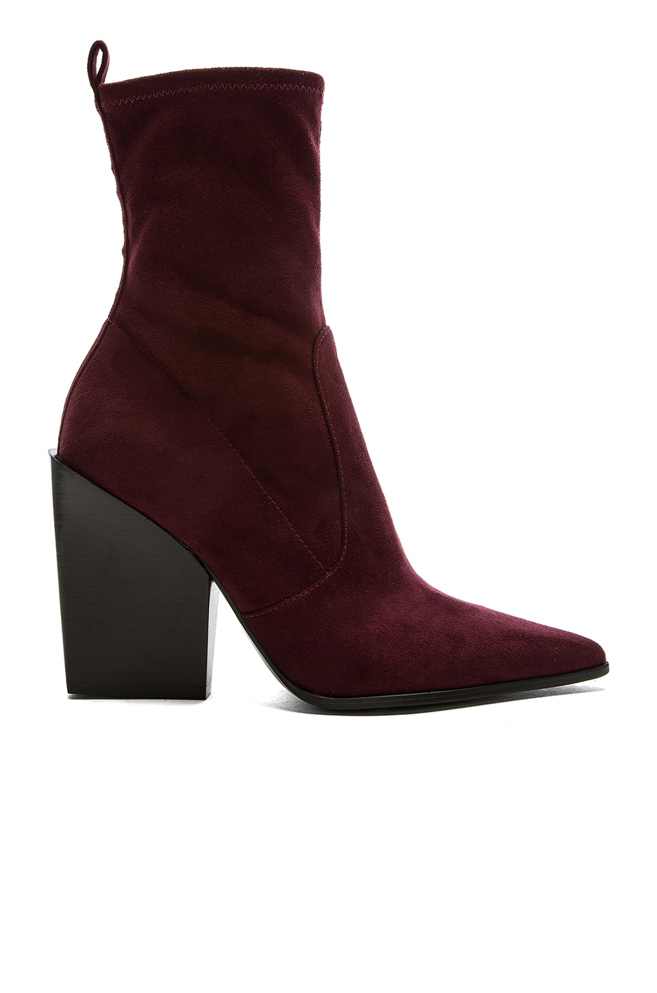 KENDALL + KYLIE Felicia Bootie in Dark Red Fabric