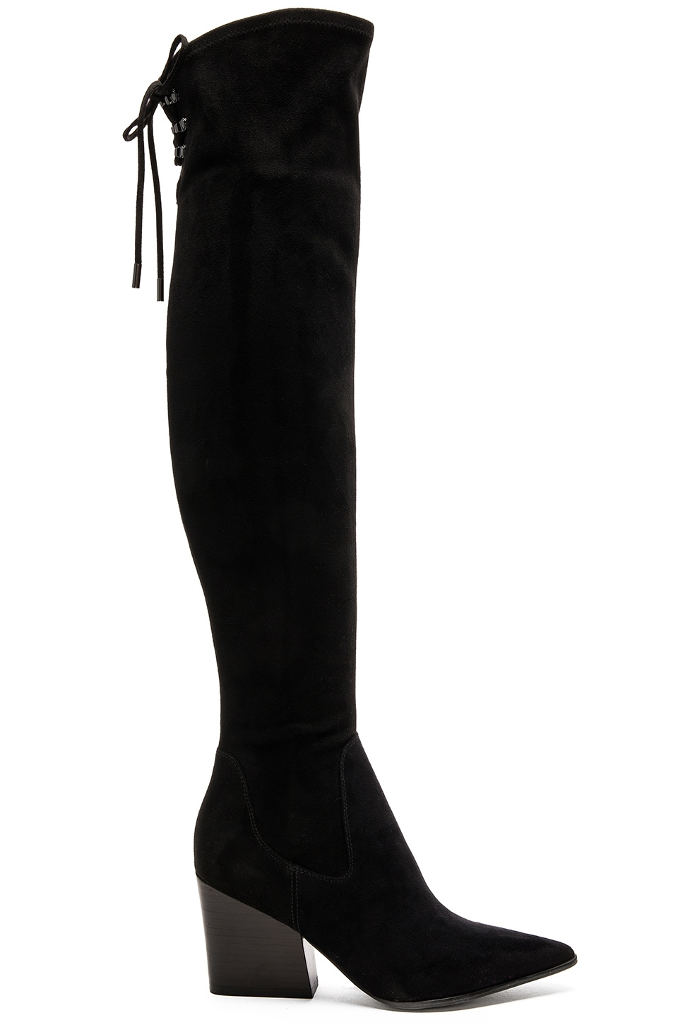 KENDALL + KYLIE Fedra Boot in Black Suede