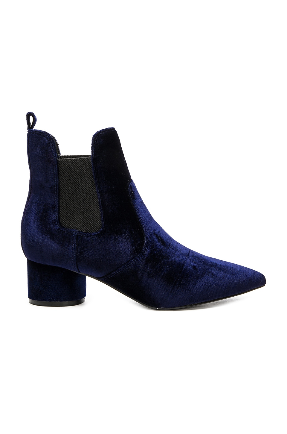 KENDALL + KYLIE Logan 2 Bootie in Dark Blue Fabric