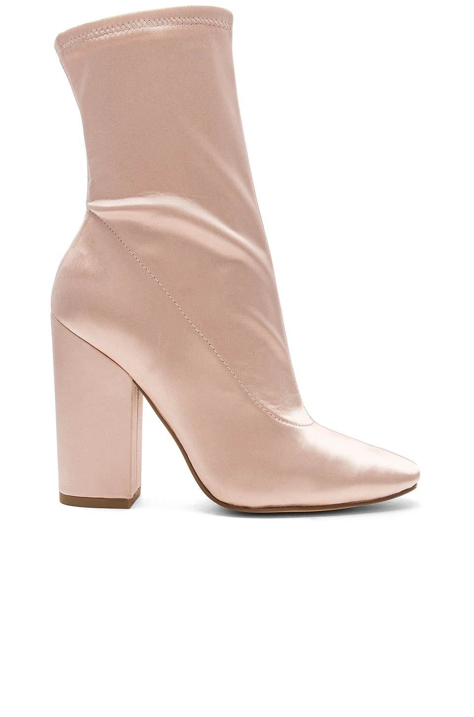 KENDALL + KYLIE Hailey Bootie in Blush Satin