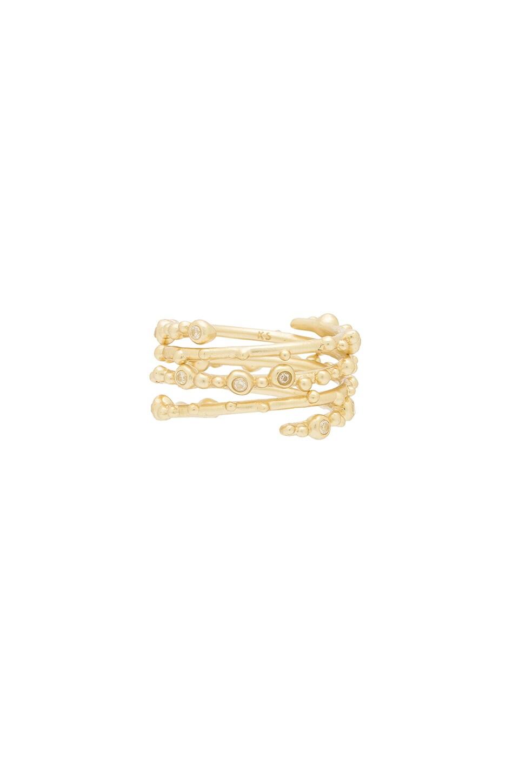 Kendra Scott Zoe Ring Set in Gold & White CZ
