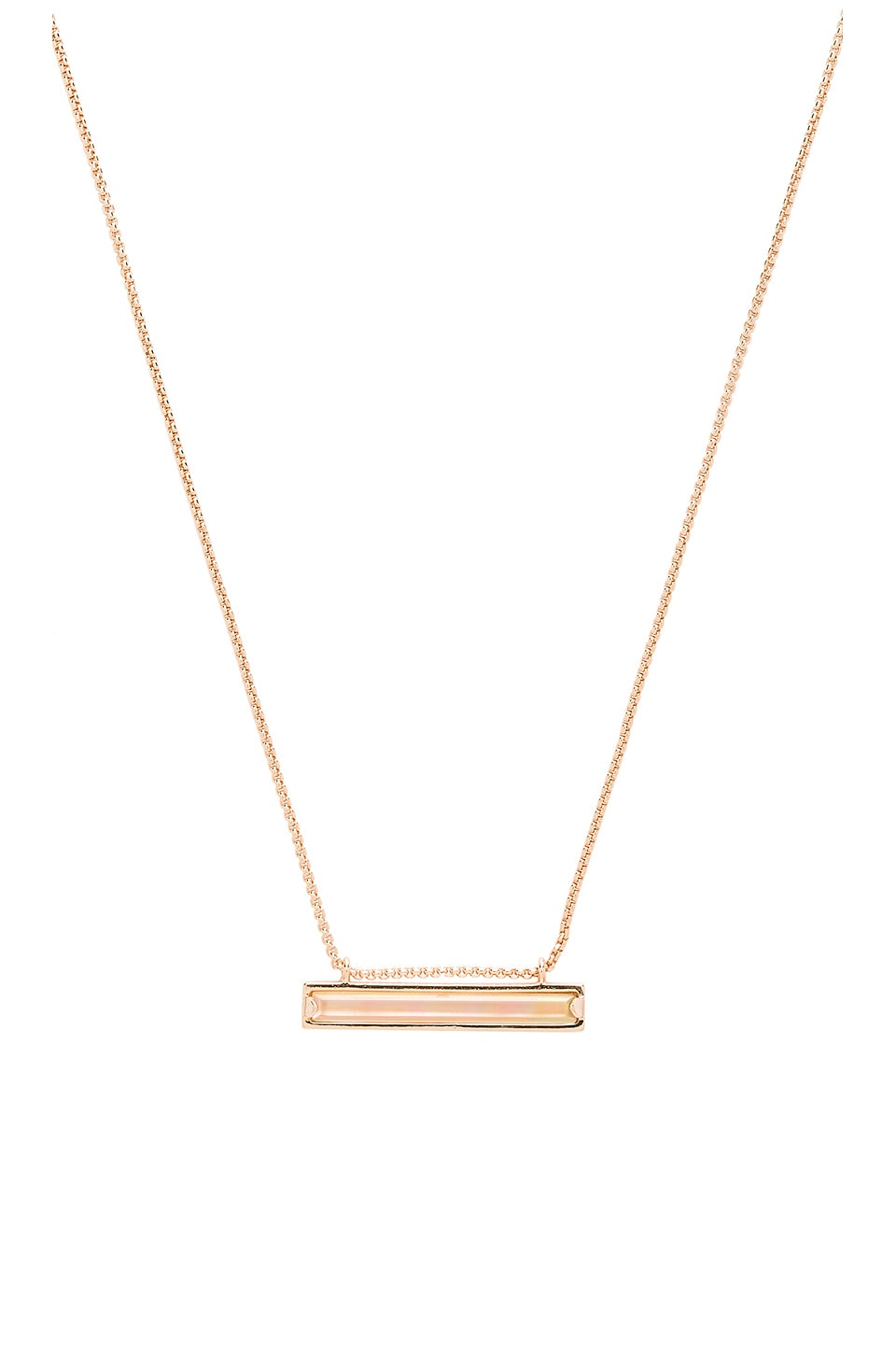 Kendra Scott Eleanor Necklace in Rose Gold & Brown Mother Of Pearl