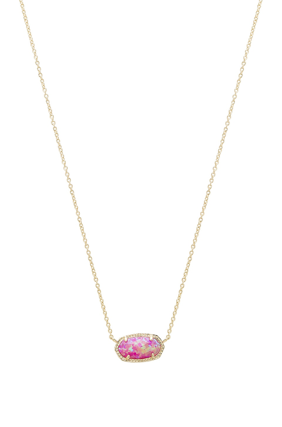 Kendra Scott Elisa Necklace in Gold & Fuchsia Opal