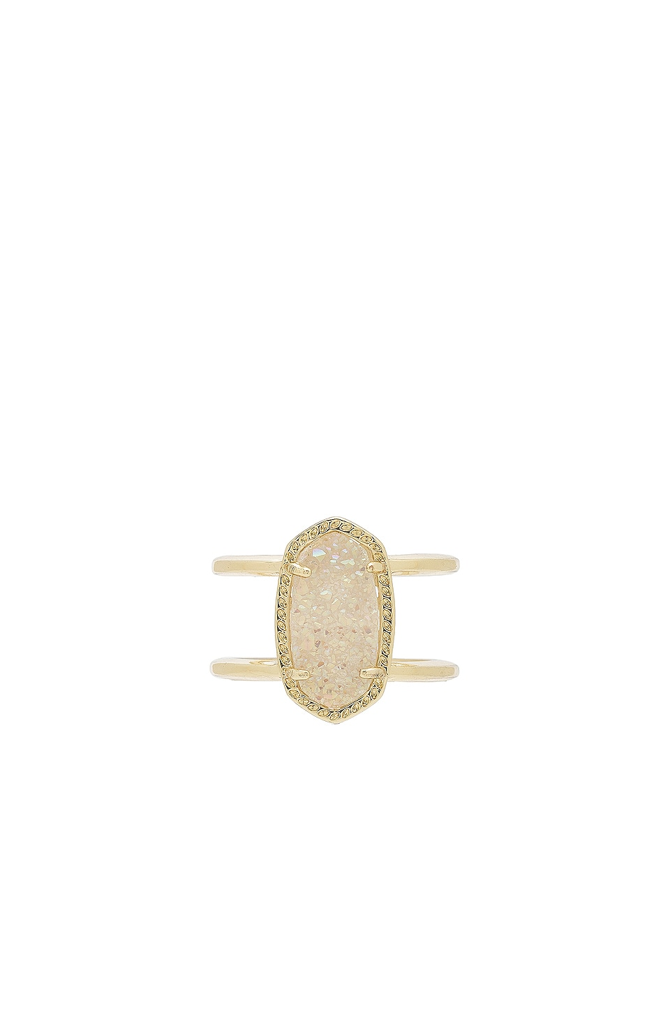 Kendra Scott Elyse Ring in Gold & Iridescent Drusy
