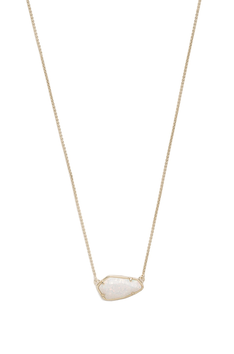 Kendra Scott Cami Necklace in Gold & White Kyocera Opal