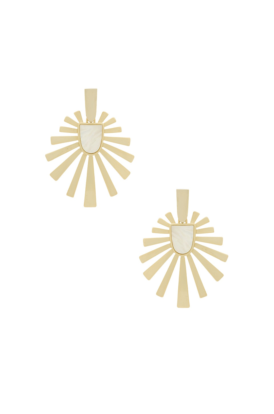 Kendra Scott Cambria Earrings in Gold Ivory Mother of Pearl
