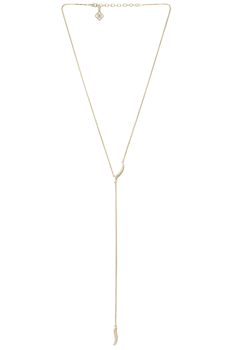 Kendra Scott Jace Necklace in Gold & White CZ