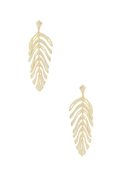 Kendra Scott Lotus Earrings in Gold