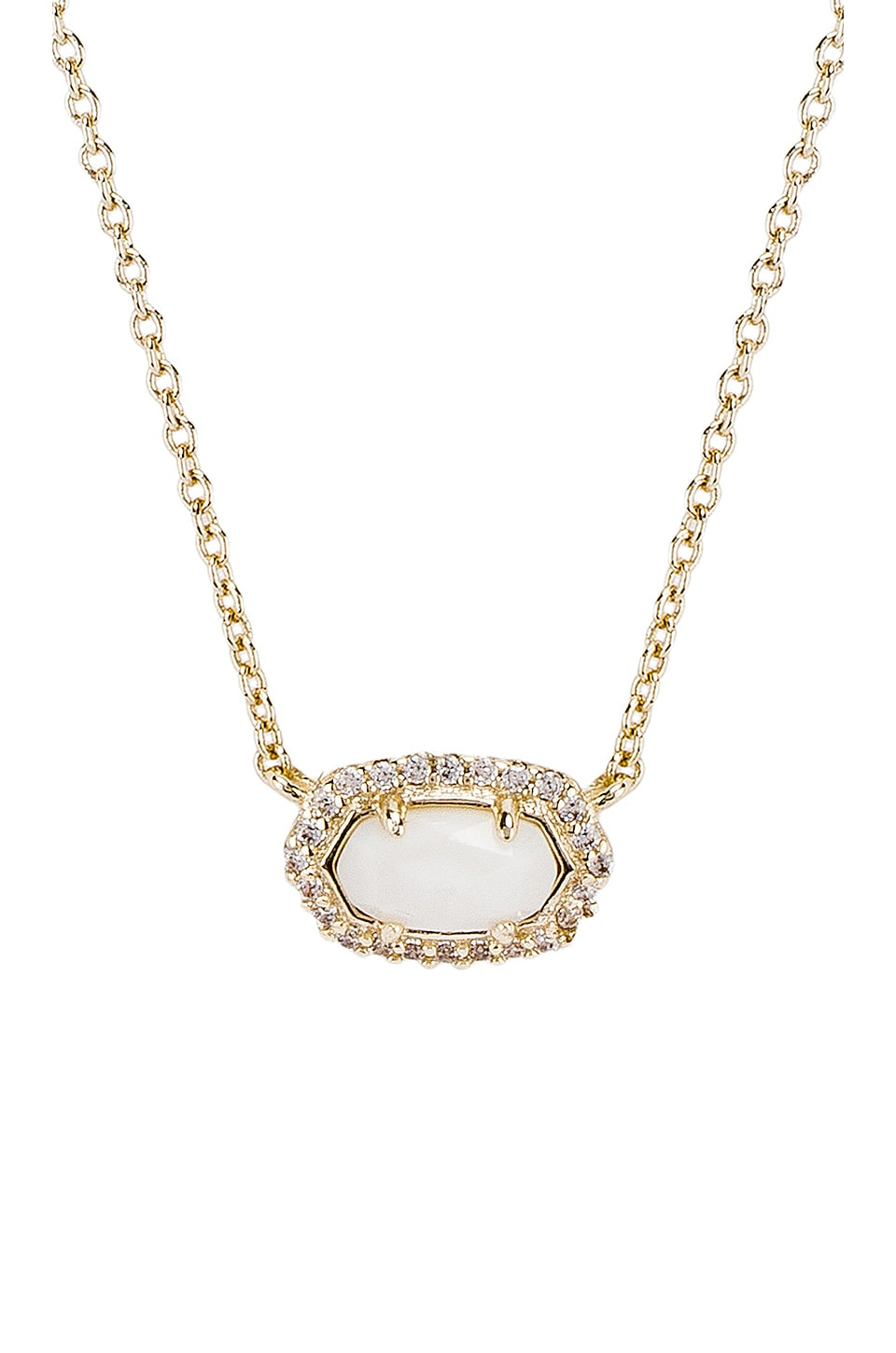 Kendra Scott Chelsea Necklace in Gold & White Mother of Pearl