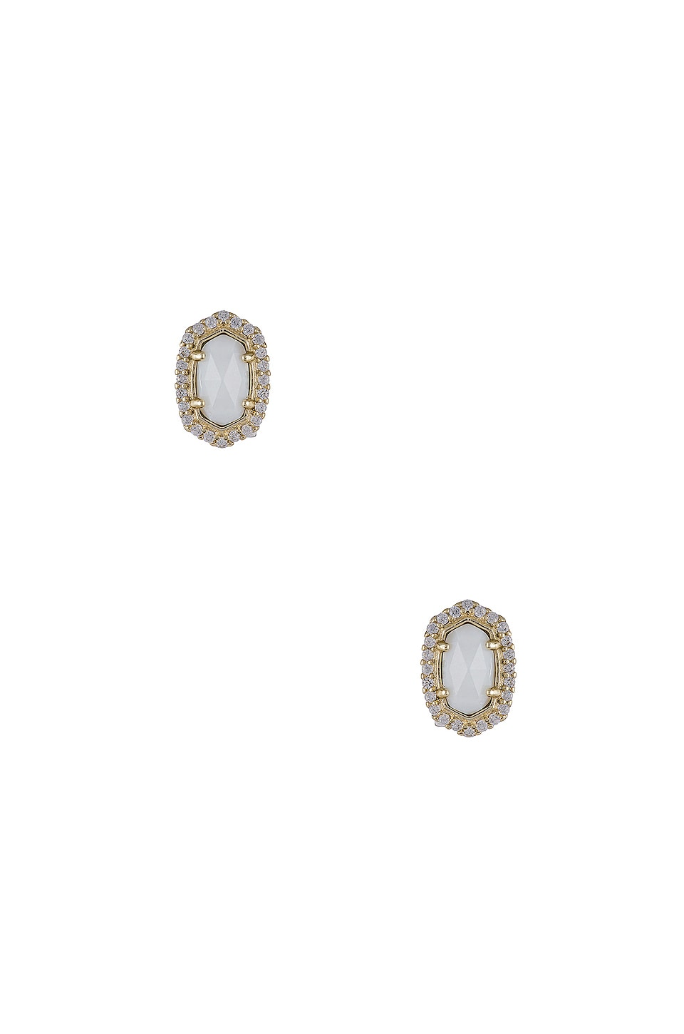 Kendra Scott Cade Earring in Gold & White Mother of Pearl