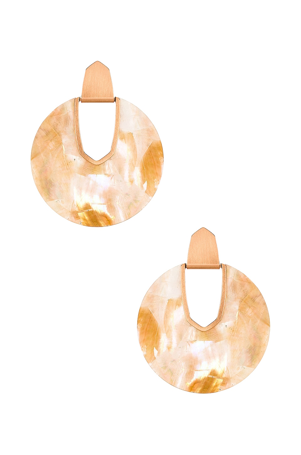Kendra Scott Diane Mother Of Pearl Earring in Rose Gold Brown