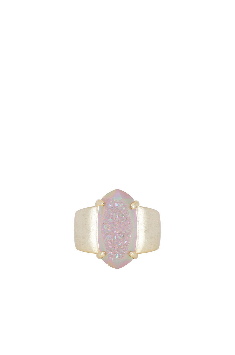 Kendra Scott Harrison Cocktail Ring in Gold & Iridescent Drusy