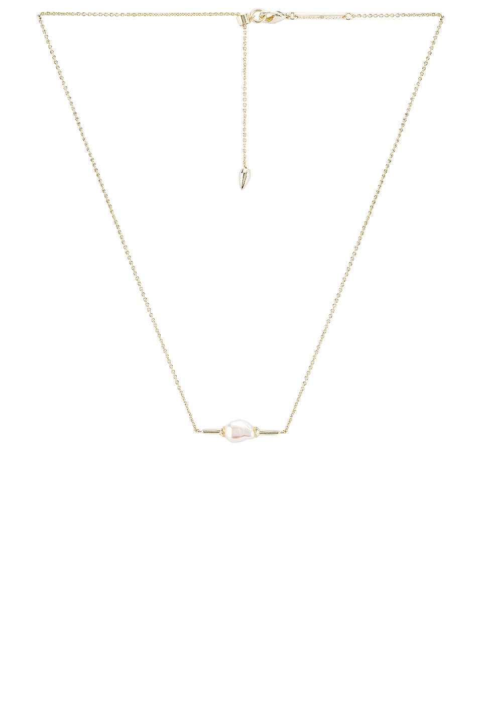 Kendra Scott Emberly Necklace in Gold Baroque Pearl
