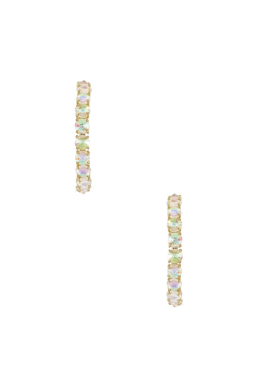 Kendra Scott Jolie Hoop Earrings in Gold Dichroic Glass