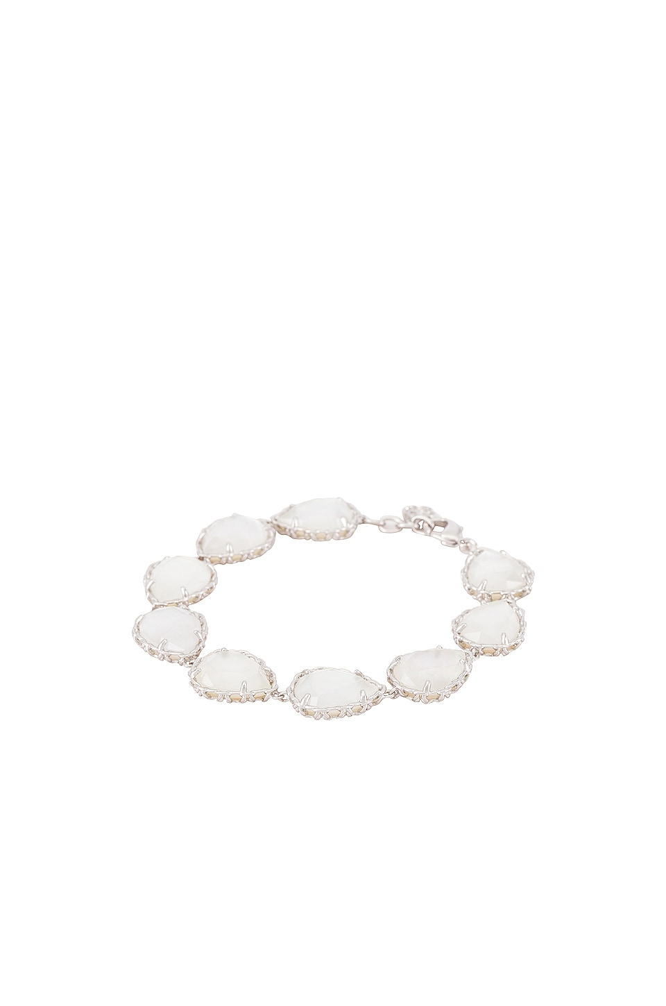 Kendra Scott Kenzie Link And Chain Bracelet in Ivory Mother Of Pearl