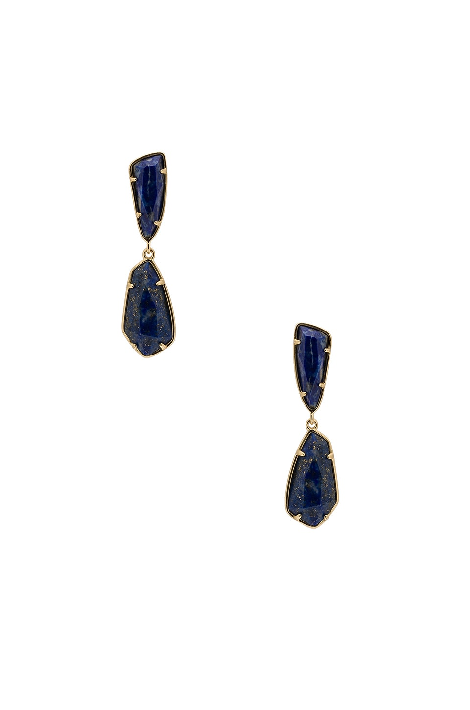 Kendra Scott Traci Earring in Gold & Natural Cut Lapis