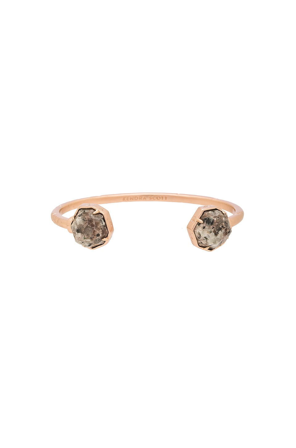 Kendra Scott Brinkley Bracelet in Rose Gold & Gray Granite