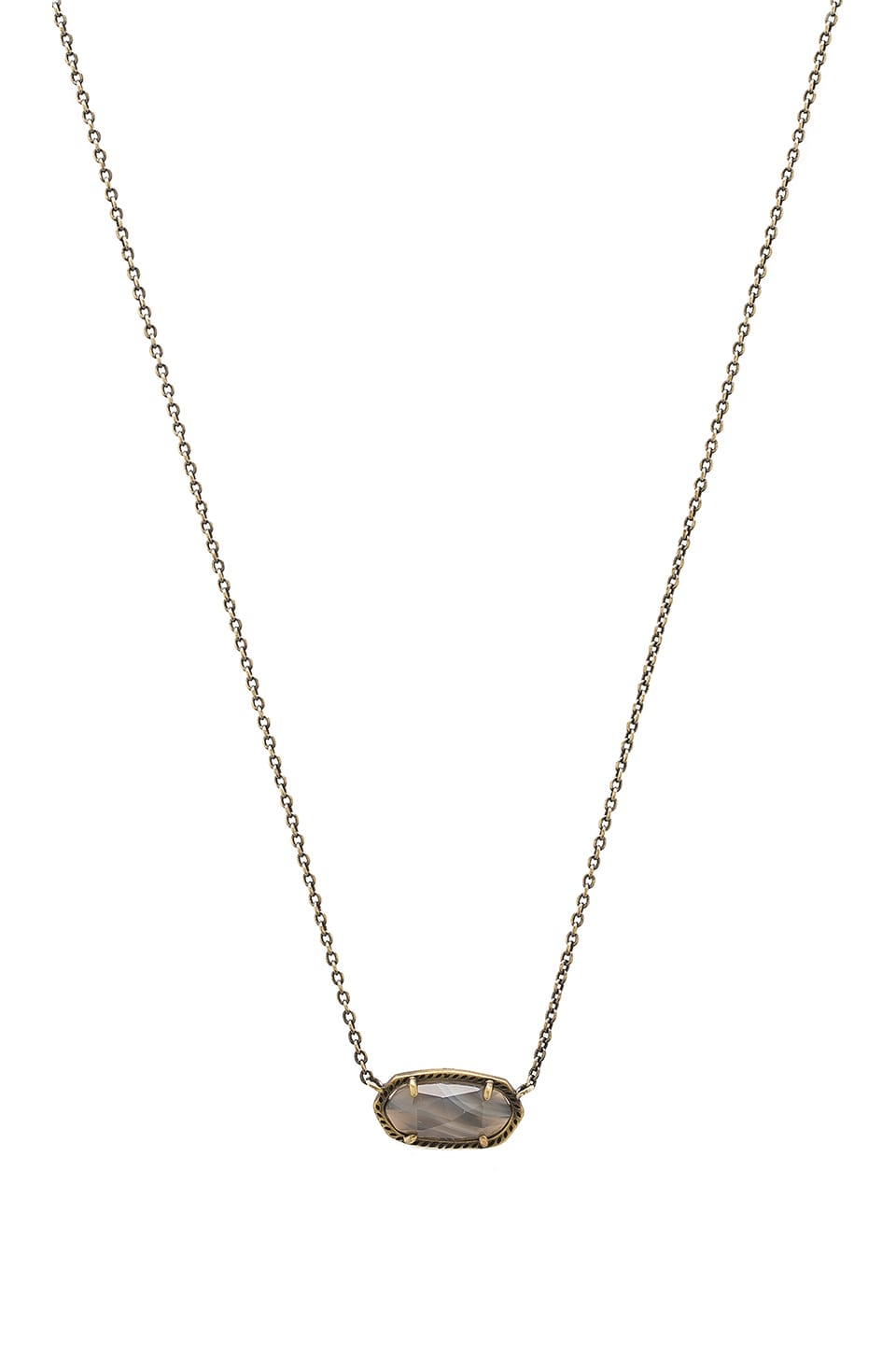Kendra Scott Elisa Necklace in Antique Brass & White Banded Agate
