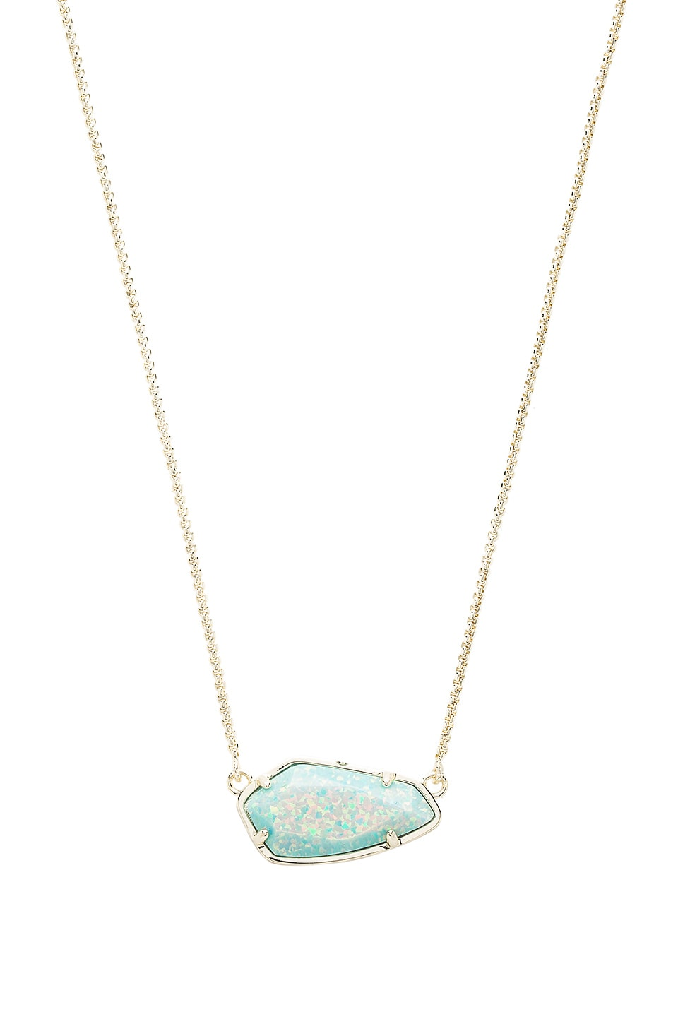 Kendra Scott Cami Necklace in Gold & Aqua Kyocera Opal