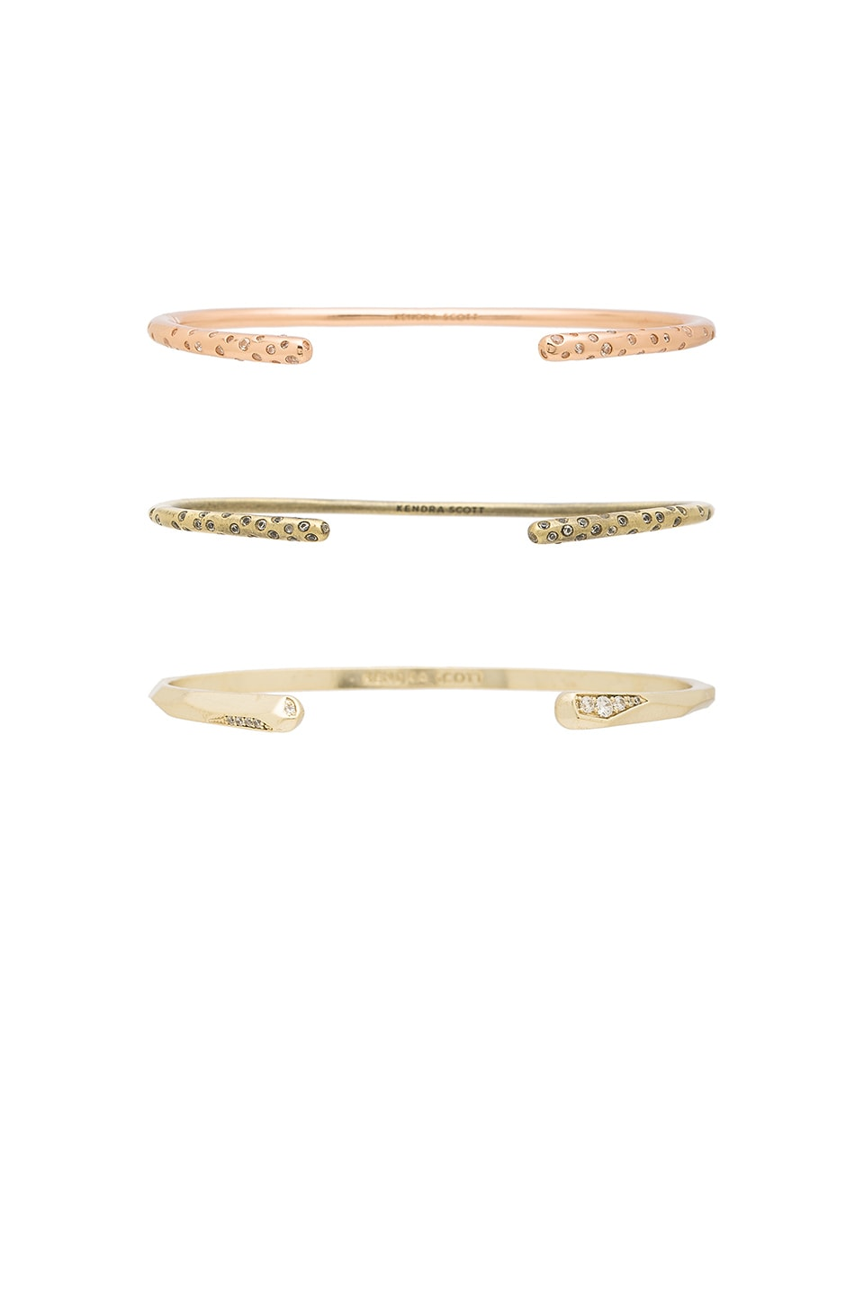 Zorte Open Bangle Set by Kendra Scott