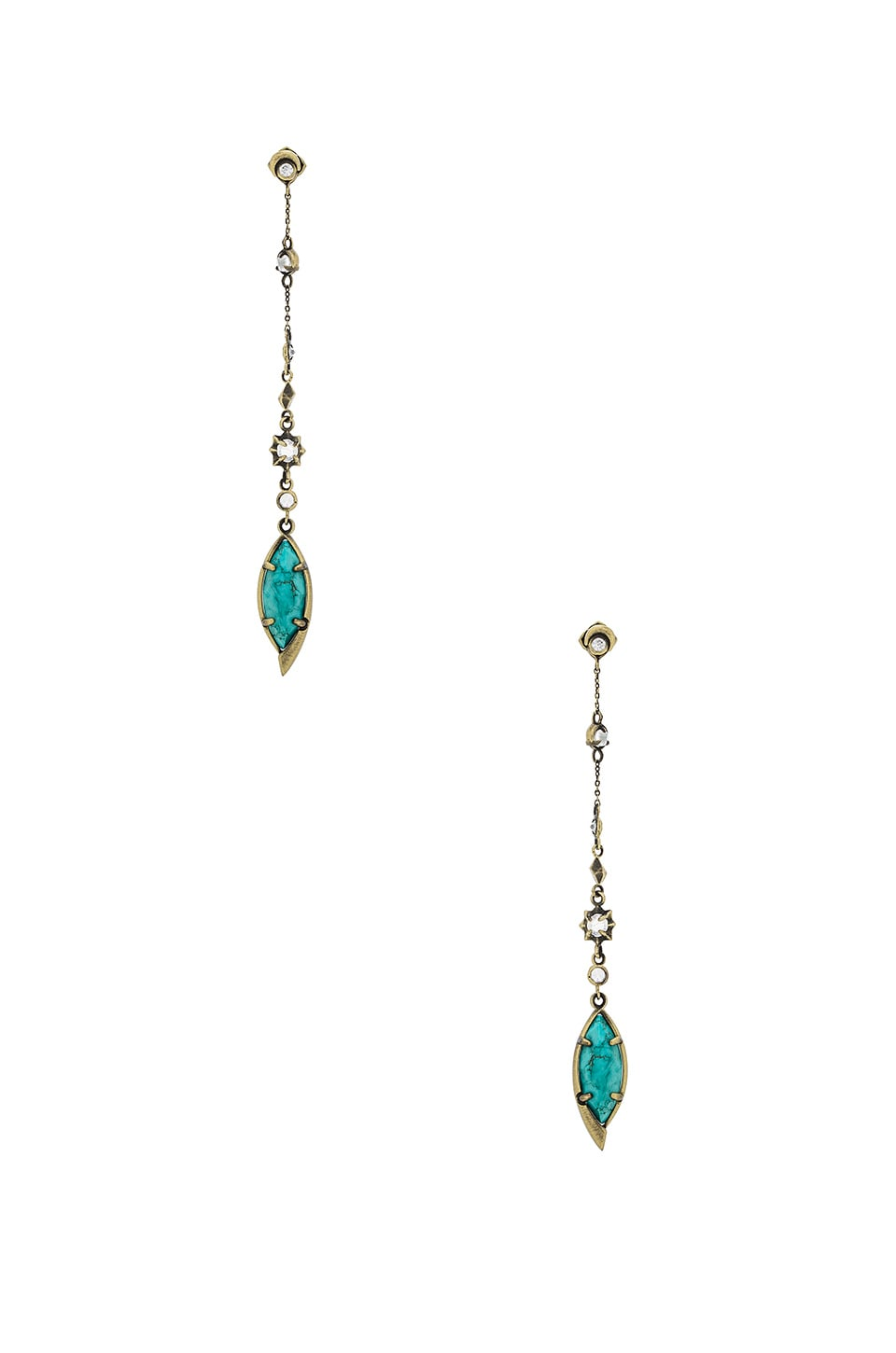 Kendra Scott Lane Shoulder Duster Ear Jacket in Variegated Turquoise