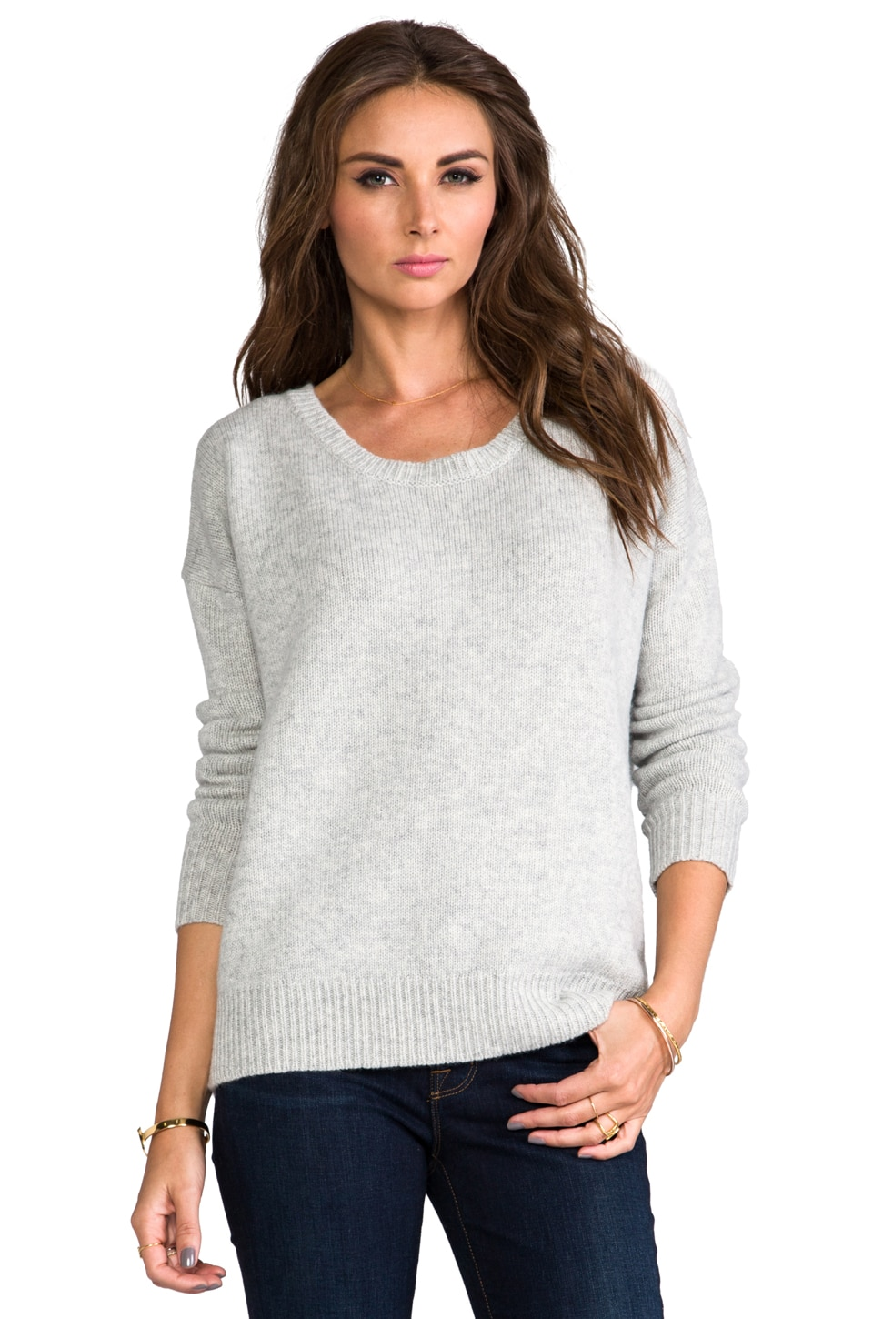 Kingsley Boyfriend Pullover in Light Heather Grey