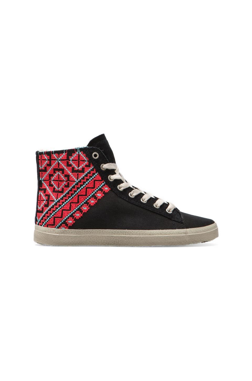 KIM & ZOZI Woven Sneaker in Black