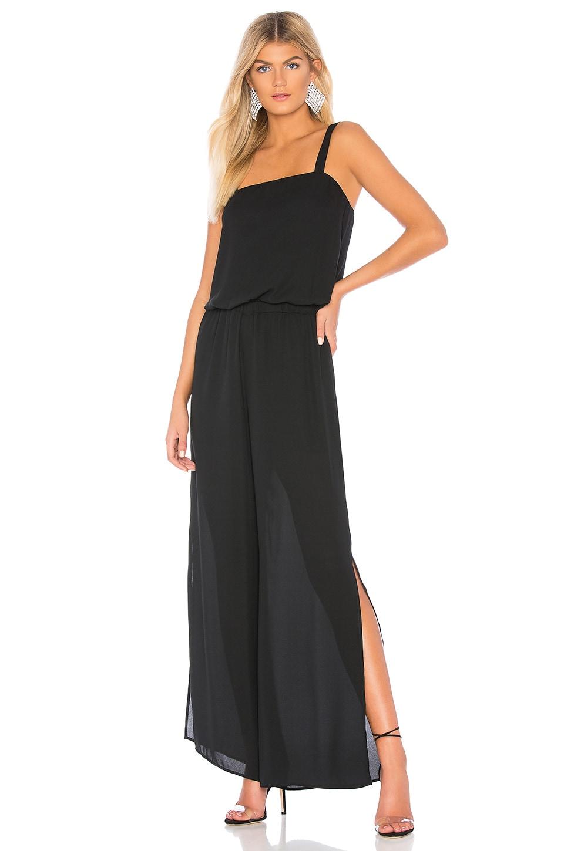 krisa Side Slit Jumpsuit in Black