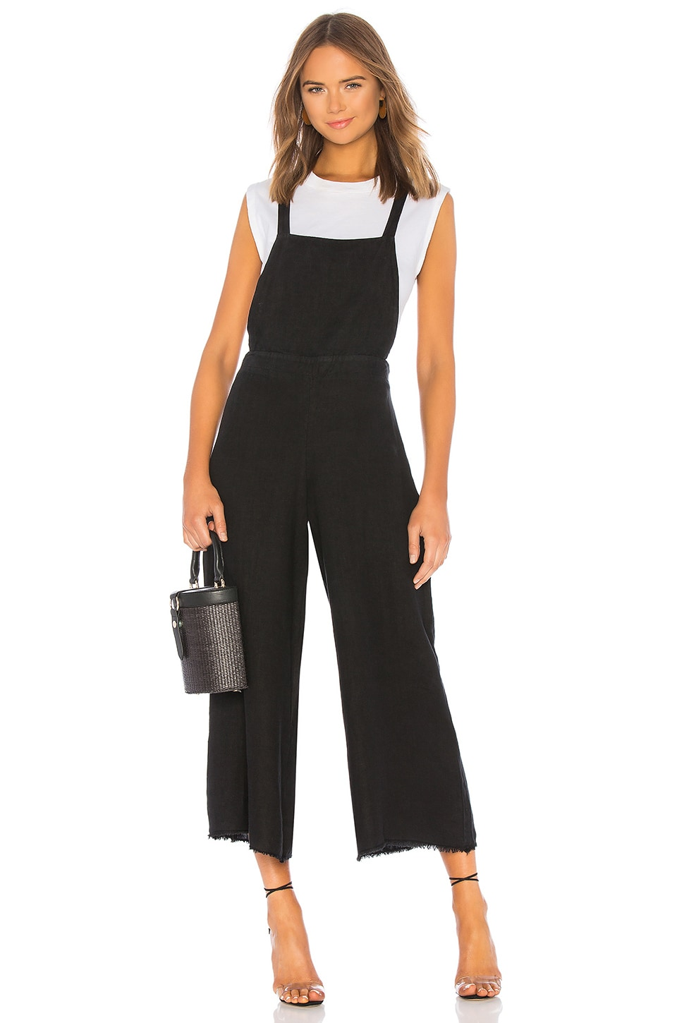 krisa Tie Back Overalls in Black